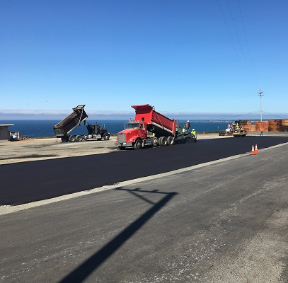New Asphalt made with recycled pavement